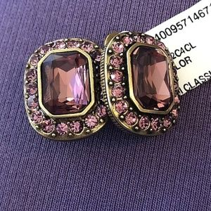 Heidi Daus earrings Classic pink NWT